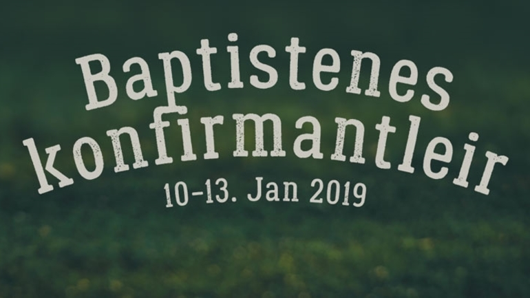 Baptistenes konfirmantleir 2019