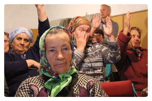 Håp blant tårer i Øst-Ukraina
